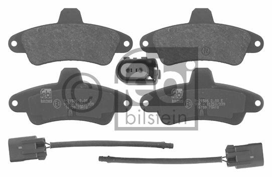 Kit de plaquettes de frein, frein à disque - FEBI BILSTEIN - 16159