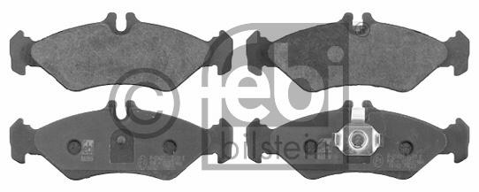 Kit de plaquettes de frein, frein à disque - FEBI BILSTEIN - 16162