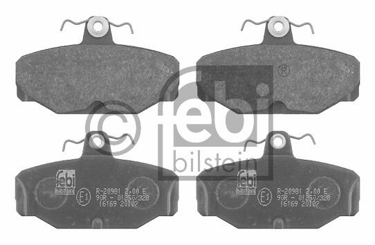 Kit de plaquettes de frein, frein à disque - FEBI BILSTEIN - 16169