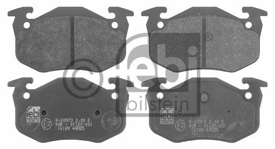 Kit de plaquettes de frein, frein à disque - FEBI BILSTEIN - 16189