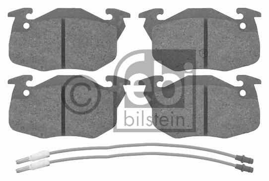 Kit de plaquettes de frein, frein à disque - FEBI BILSTEIN - 16192