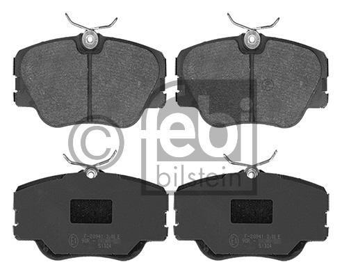 Kit de plaquettes de frein, frein à disque - FEBI BILSTEIN - 16193