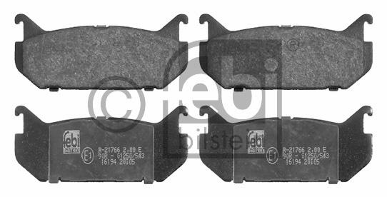 Kit de plaquettes de frein, frein à disque - FEBI BILSTEIN - 16194