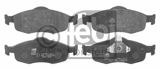 Kit de plaquettes de frein, frein à disque - FEBI BILSTEIN - 16202