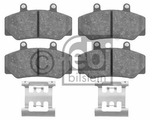 Kit de plaquettes de frein, frein à disque - FEBI BILSTEIN - 16211