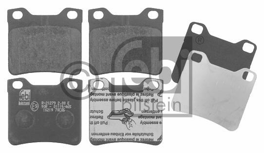 Kit de plaquettes de frein, frein à disque - FEBI BILSTEIN - 16219