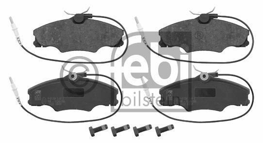 Kit de plaquettes de frein, frein à disque - FEBI BILSTEIN - 16221