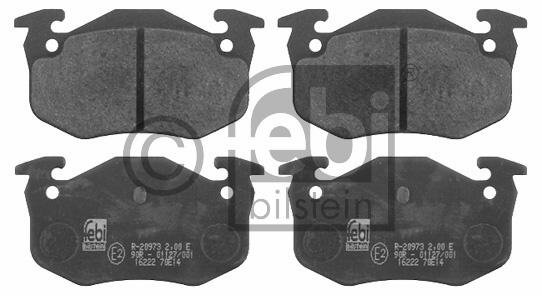 Kit de plaquettes de frein, frein à disque - FEBI BILSTEIN - 16222