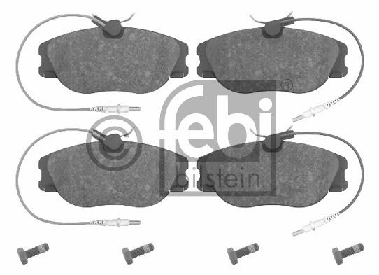 Kit de plaquettes de frein, frein à disque - FEBI BILSTEIN - 16224