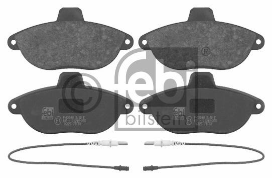 Kit de plaquettes de frein, frein à disque - FEBI BILSTEIN - 16225