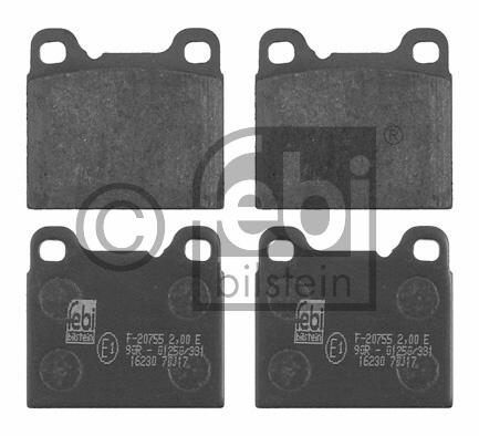 Kit de plaquettes de frein, frein à disque - FEBI BILSTEIN - 16230