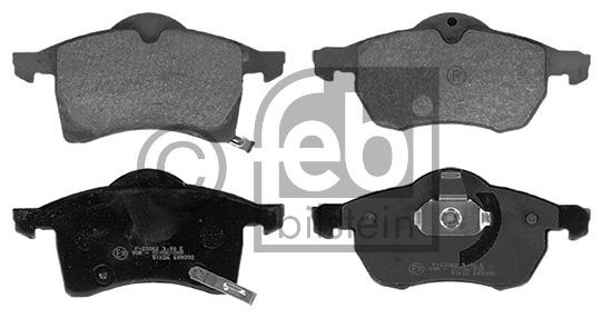 Kit de plaquettes de frein, frein à disque - FEBI BILSTEIN - 16232