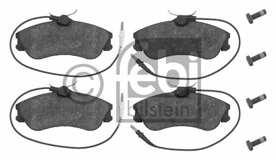 Kit de plaquettes de frein, frein à disque - FEBI BILSTEIN - 16237