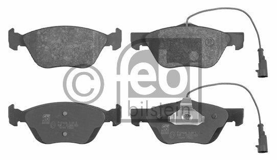 Kit de plaquettes de frein, frein à disque - FEBI BILSTEIN - 16244