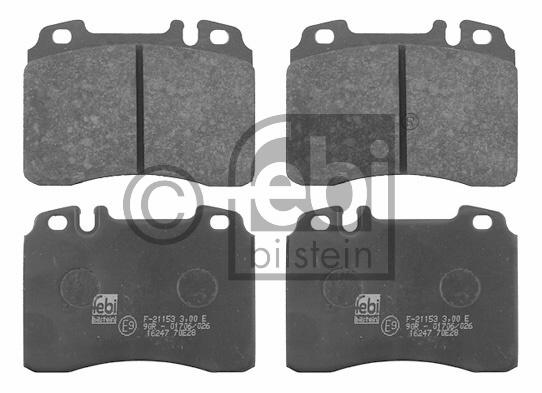 Kit de plaquettes de frein, frein à disque - FEBI BILSTEIN - 16247