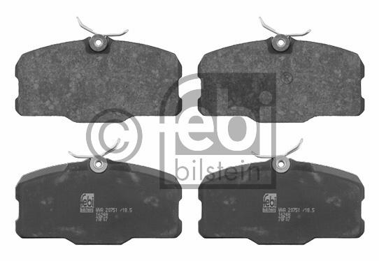 Kit de plaquettes de frein, frein à disque - FEBI BILSTEIN - 16248