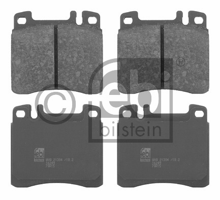 Kit de plaquettes de frein, frein à disque - FEBI BILSTEIN - 16249
