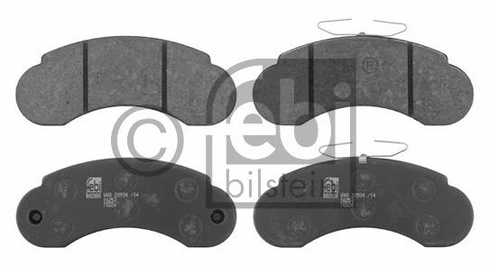Kit de plaquettes de frein, frein à disque - FEBI BILSTEIN - 16250
