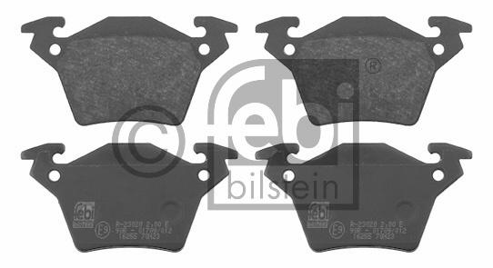 Kit de plaquettes de frein, frein à disque - FEBI BILSTEIN - 16255