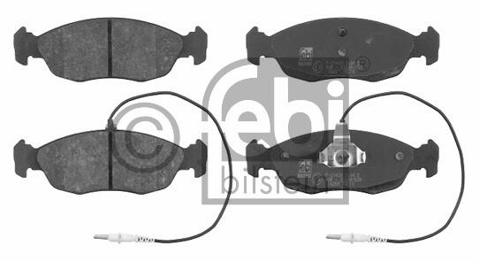 Kit de plaquettes de frein, frein à disque - FEBI BILSTEIN - 16259