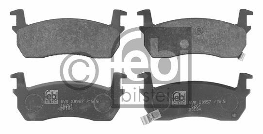 Kit de plaquettes de frein, frein à disque - FEBI BILSTEIN - 16261