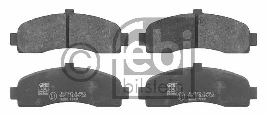 Kit de plaquettes de frein, frein à disque - FEBI BILSTEIN - 16262