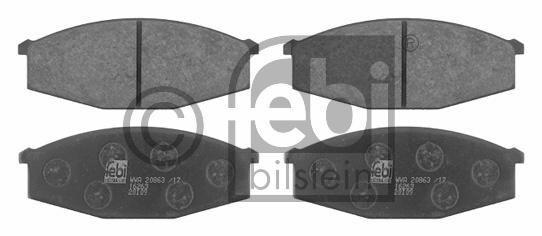 Kit de plaquettes de frein, frein à disque - FEBI BILSTEIN - 16263