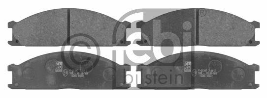 Kit de plaquettes de frein, frein à disque - FEBI BILSTEIN - 16265