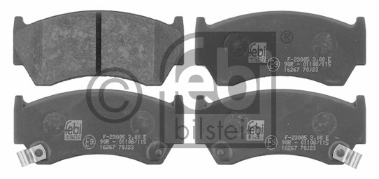 Kit de plaquettes de frein, frein à disque - FEBI BILSTEIN - 16267