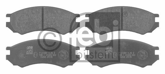Kit de plaquettes de frein, frein à disque - FEBI BILSTEIN - 16268