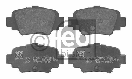 Kit de plaquettes de frein, frein à disque - FEBI BILSTEIN - 16269