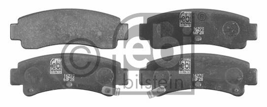 Kit de plaquettes de frein, frein à disque - FEBI BILSTEIN - 16270