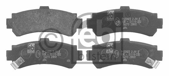 Kit de plaquettes de frein, frein à disque - FEBI BILSTEIN - 16273
