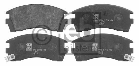 Kit de plaquettes de frein, frein à disque - FEBI BILSTEIN - 16275