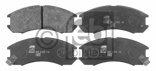 Kit de plaquettes de frein, frein à disque - FEBI BILSTEIN - 16282