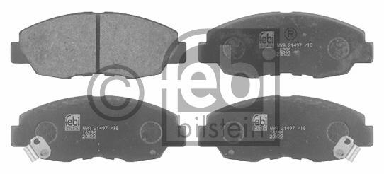 Kit de plaquettes de frein, frein à disque - FEBI BILSTEIN - 16296