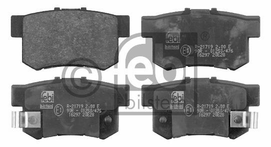 Kit de plaquettes de frein, frein à disque - FEBI BILSTEIN - 16297