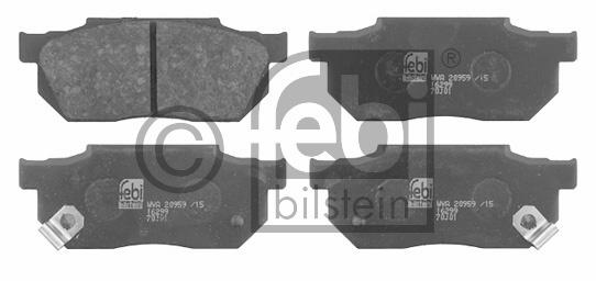 Kit de plaquettes de frein, frein à disque - FEBI BILSTEIN - 16299