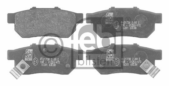 Kit de plaquettes de frein, frein à disque - FEBI BILSTEIN - 16301