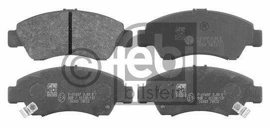 Kit de plaquettes de frein, frein à disque - FEBI BILSTEIN - 16303