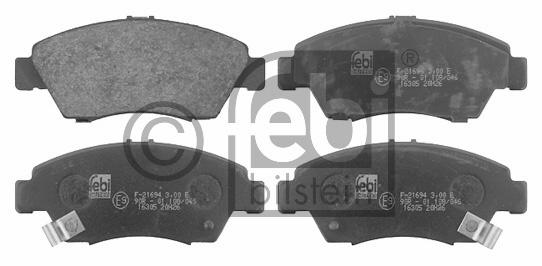 Kit de plaquettes de frein, frein à disque - FEBI BILSTEIN - 16305