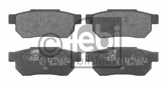 Kit de plaquettes de frein, frein à disque - FEBI BILSTEIN - 16309