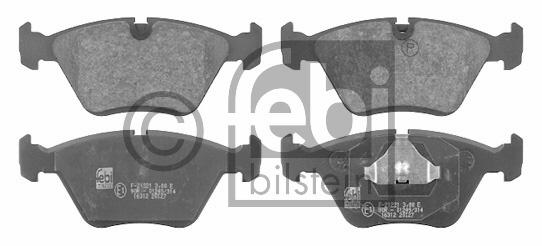 Kit de plaquettes de frein, frein à disque - FEBI BILSTEIN - 16312