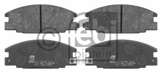 Kit de plaquettes de frein, frein à disque - FEBI BILSTEIN - 16323