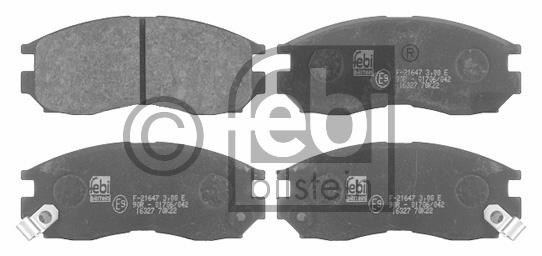 Kit de plaquettes de frein, frein à disque - FEBI BILSTEIN - 16327