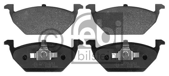 Kit de plaquettes de frein, frein à disque - FEBI BILSTEIN - 16328