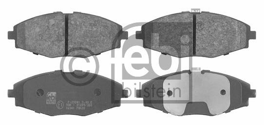Kit de plaquettes de frein, frein à disque - FEBI BILSTEIN - 16341