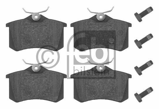Kit de plaquettes de frein, frein à disque - FEBI BILSTEIN - 16344