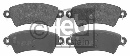Kit de plaquettes de frein, frein à disque - FEBI BILSTEIN - 16364