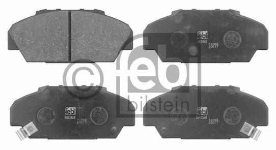 Kit de plaquettes de frein, frein à disque - FEBI BILSTEIN - 16365
